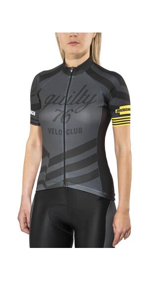 guilty 76 racing Velo Club Pro Race - Maillot manches courtes Femme - noir